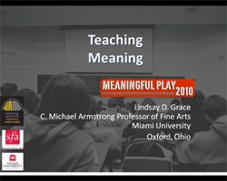 Teaching Meaning Presentation by Lindsay Grace
